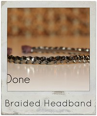 how to make a braided leather headband