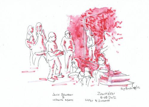 2012-08-16 Joice Brondani & Veronica Risatti - Zanxóssi (Largo de S. Vicente)