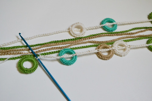 Crocheted Necklace Tutorial Step 3