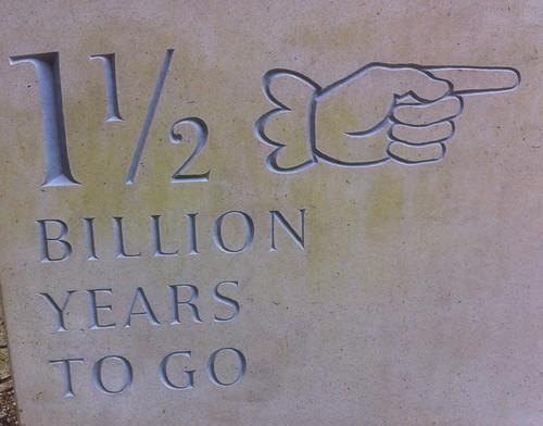 1 1/2 billion years ago
