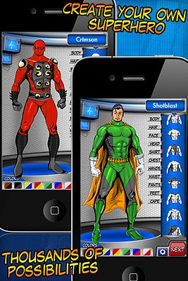 Super Hero Creator Let's You Share Custom Heroes with Friends
