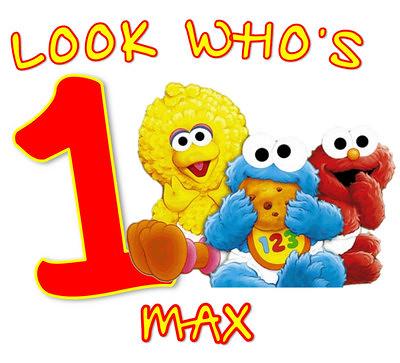 Boy Sesame Street First Birthday Shirt