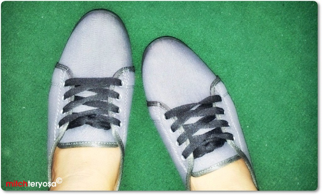 Canvass shoes top view