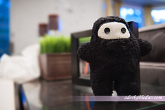 DIY stuffed animal ninja for baby
