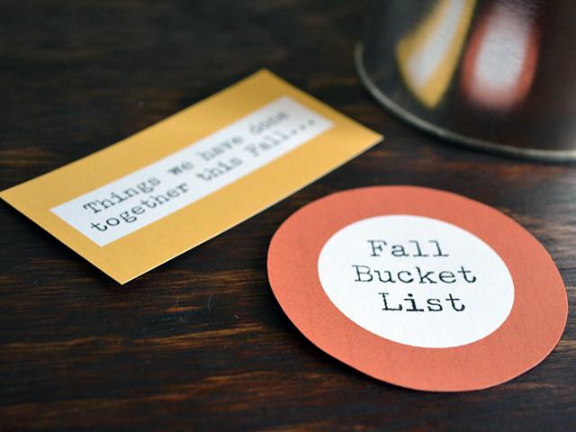 DIY Fall Bucket List and Printables