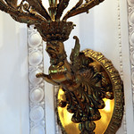 Gryphon lamp fixture base 01 - East Room replica - Richard Nixon Presidential Library and Museum
