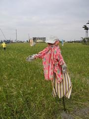 苗栗苑裡艷麗的稻草人。