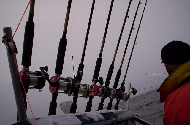 Línea de cañas de pescar