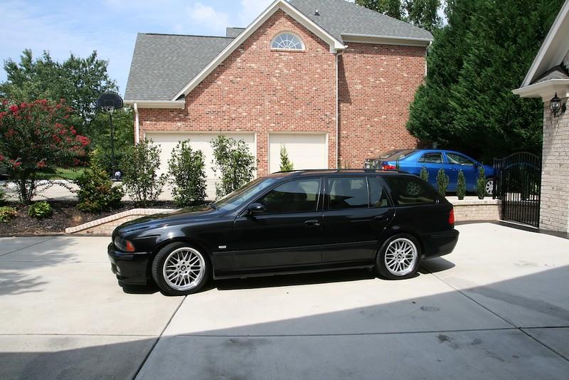 black bmw wagon