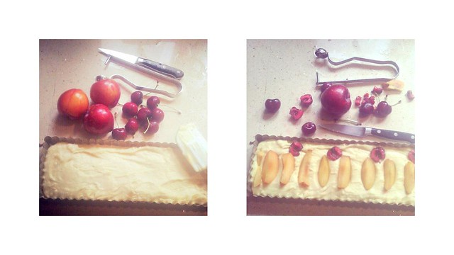 summer plum and cherry torte