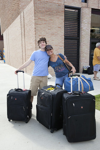 Move in day at St. Edward's University, Friday, Aug. 24