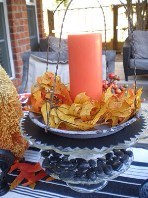 Halloween Tablescape orange and black