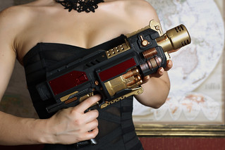 Steampunk Nerf Weaponry : The Girl, The Guns : 5