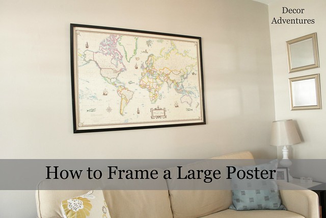 How to Frame a Large Poster, Build a Frame from Moulding