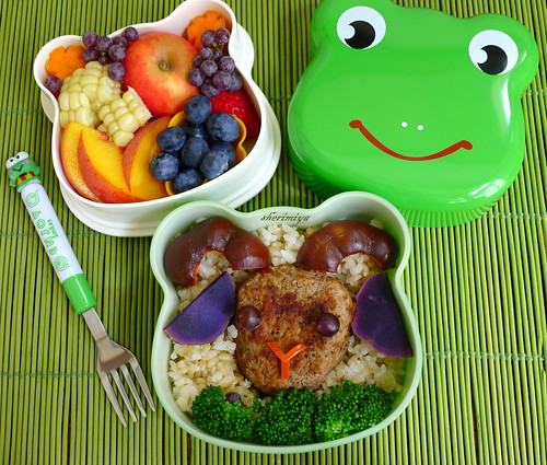 Lamburger Froggie Bento by sherimiya ♥
