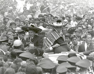 Apollo 11 Astronauts Swarmed by Thousands In Mexico City Parade.