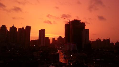 cameraphone china sunset sky storm dalian samsung galaxy s3