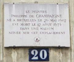 Photo of Philippe de Champaigne white plaque