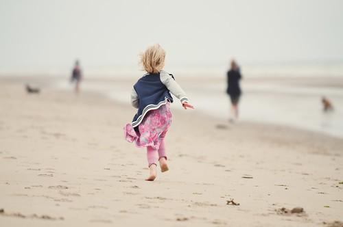 kid on a beach on vacation