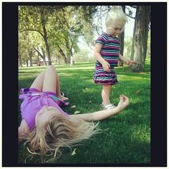 Annalie resting, Elliora standing, Aurora wandering. #latergram