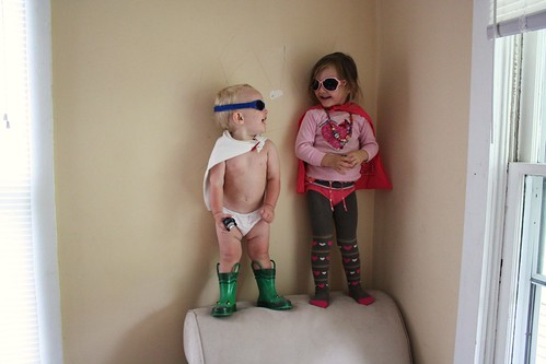 Super Sister and Potty Training Boy