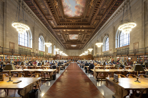 New York Public Library reading room