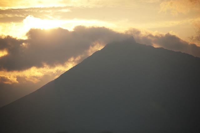 恵庭岳の夕陽