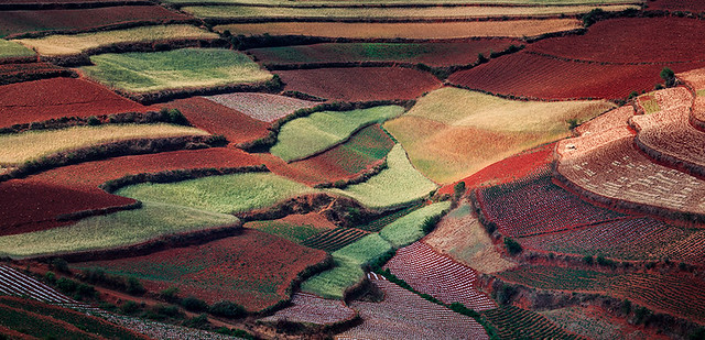 The Amphitheater of Colors, Dongchuan, China