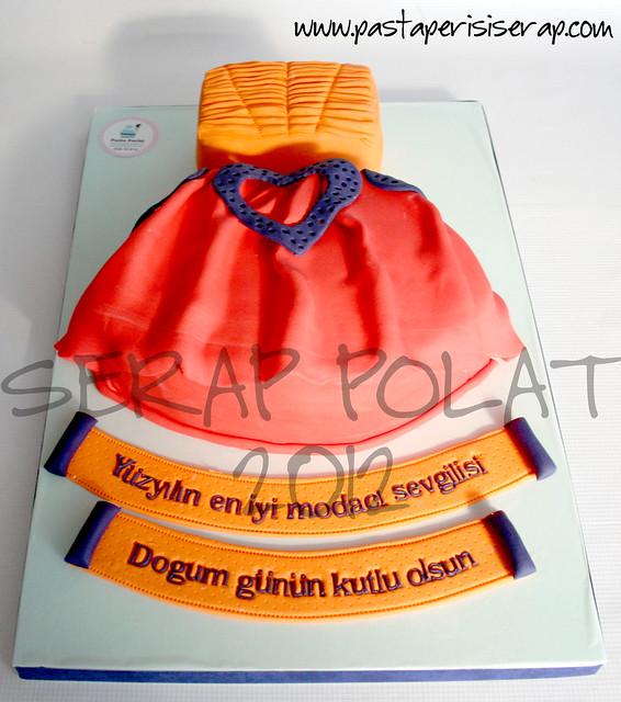 tasarım elbise pastası