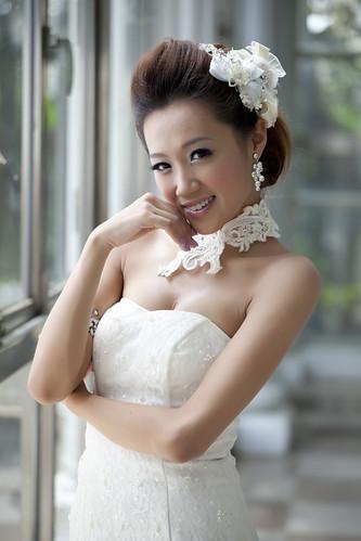 [フリー画像素材] 人物, 女性 - アジア, ウエディングドレス, 行事・イベント, 結婚式 ID:201212080800