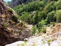 Remontée du haut-Velacu : contournement en RD de la cascade de 30m