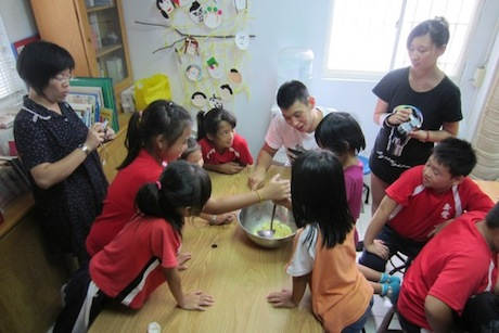 August 31st, 2012 - Jeremy Lin at a school in Hualian in Taiwan