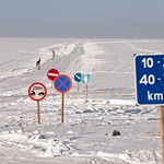 Ice road in Estonia