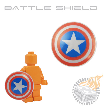 Battle Shield - Silver (Stars & Stripes pattern)