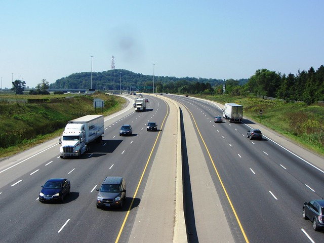 On bridge over Highway 401