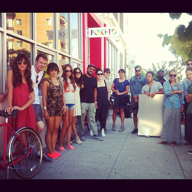 Amazing to have the @TOMS shoes shoot their upcoming collection in our store! Awesome crew, good vibes.