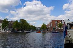La rivière Amstel et le Canal Zwanenburgwal
