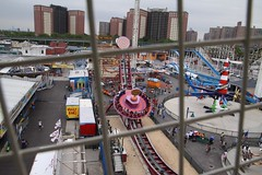 View from the ferris wheels