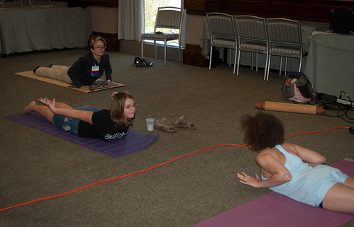 Teaching Yoga at Musecon