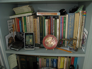 one of my herbal books shelf