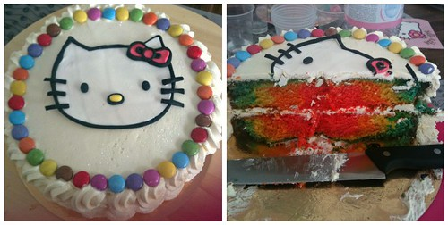 Kitty Rainbow Birthday Cake by Sugar Daze