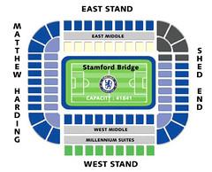Mappa/ Suddivisione settori Stamford Bridge