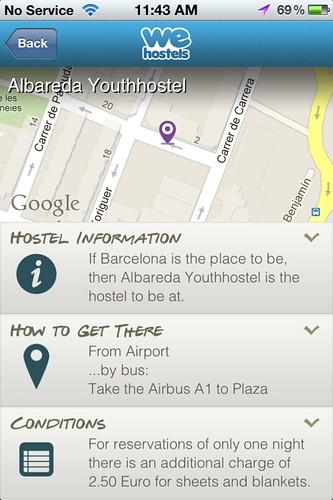 Albareda hostel info