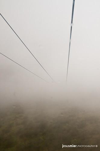 Niebla en el Teleferico de Quito