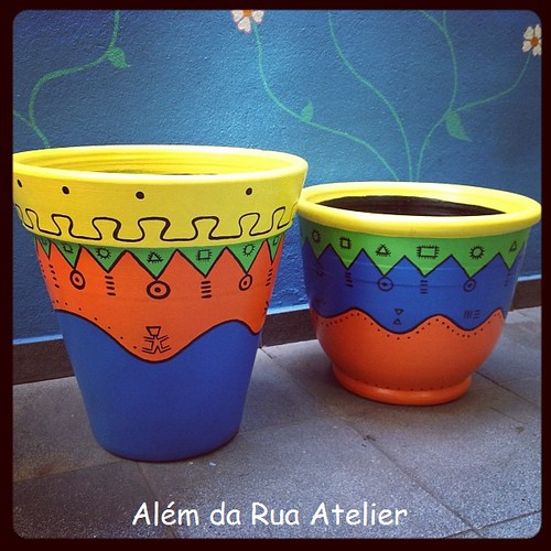 Vasos pintados -  tribal