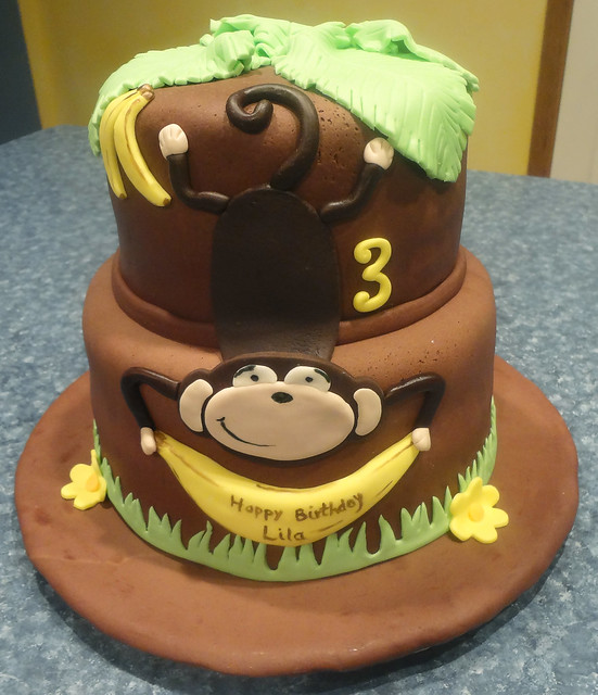 monkey birthday cake template - 7984650026 7f01ce3af6