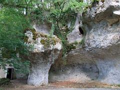 Overhanging rocks