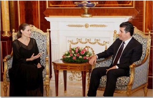 angelina and nechirvan barzani