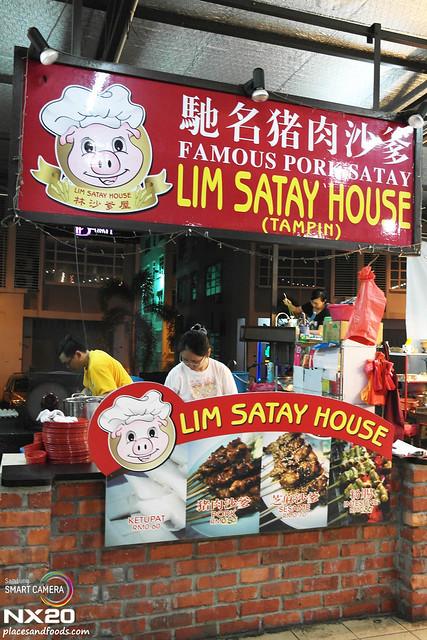 pork satay stall
