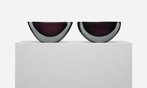 Luciano Gaspari, Bowls, Pair, 1955, Lot 196